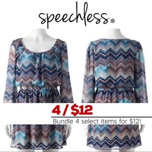 Speechless Chevron Chiffon Dress